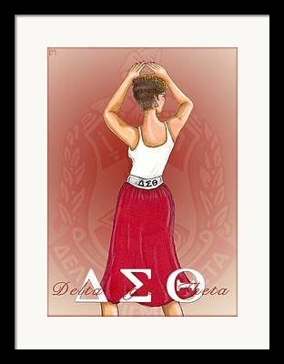 Red Skirt Framed Prints