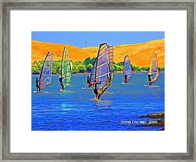 Delta Water Wings Framed Print