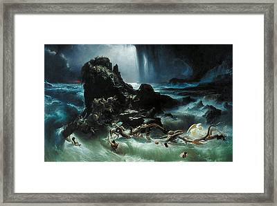Deluge Framed Print by Francis Danby