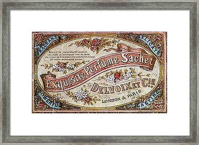 Delvoix Exquisite Perfume Sachet, 1880 Framed Print by Science Source