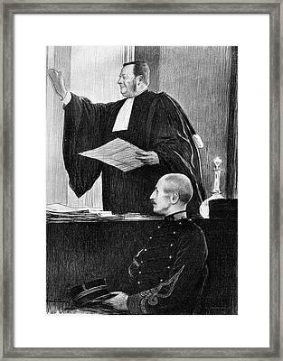 Demange And Dreyfus In Court Framed Print