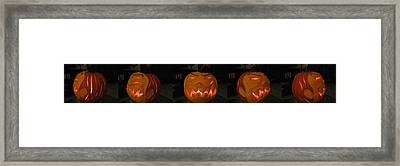 Demented Mister Ullman Pumpkin 2 Framed Print by Shawn Dall