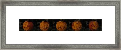 Framed Print featuring the sculpture Demented Mister Ullman Pumpkin 3 by Shawn Dall