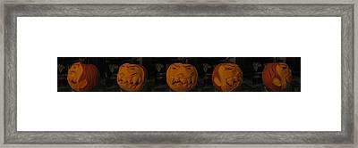Demented Mister Ullman Pumpkin 3 Framed Print by Shawn Dall