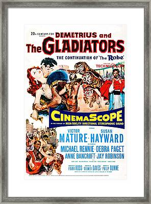 Demetrius And The Gladiators, Us Framed Print by Everett