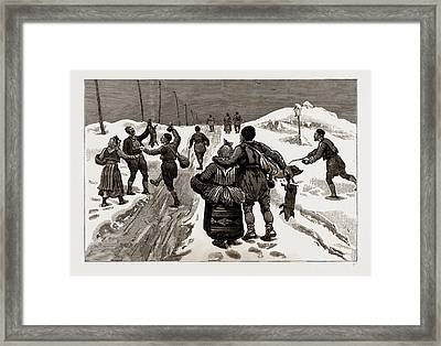 Demobilisation Men Of The First Class Returning Framed Print by Litz Collection