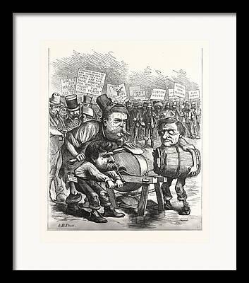 Old Grinders Drawings Framed Prints