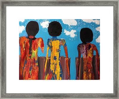 Demoiselles De Marrakesh Framed Print by Omar Hafidi