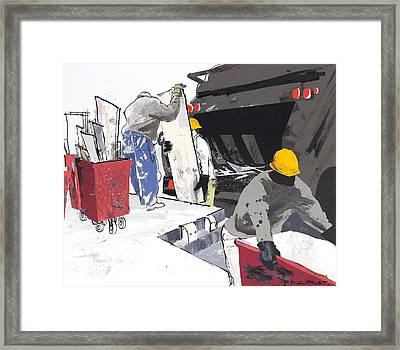 Demolition Crew Framed Print
