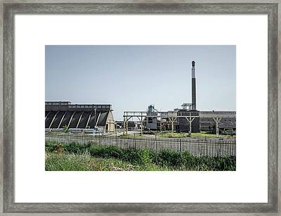 Demolition Of Chemical Plant Framed Print by Robert Brook