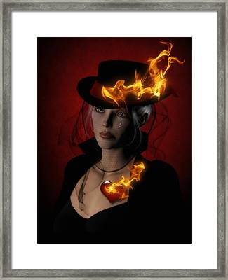 Demon Fires Framed Print by Suzanne Amberson