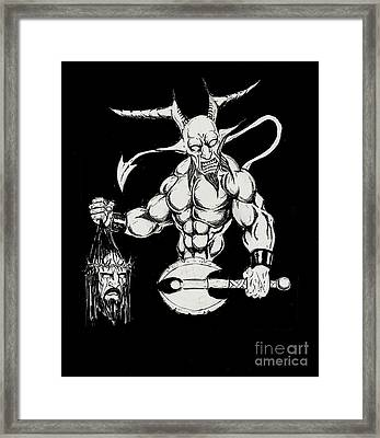 Demon Hero Framed Print by Alaric Barca