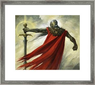 Demon Sword Framed Print