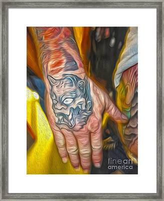 Demon Tattoo Framed Print by Gregory Dyer