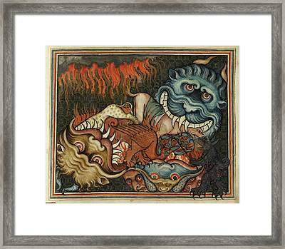 Demonic Beasts Framed Print by British Library