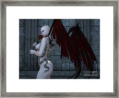 Demonic Love Framed Print by Alexander Butler