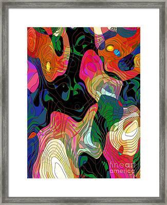Demons Framed Print by Klara Acel