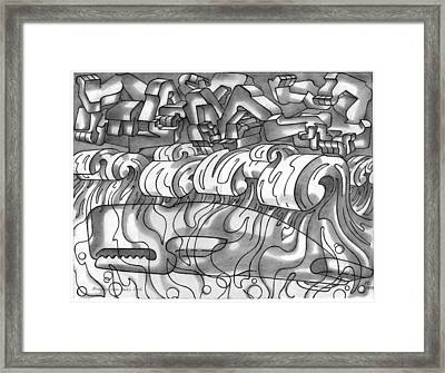 Demons Over Moby Dick Framed Print by Johannes VON GUMPPENBERG