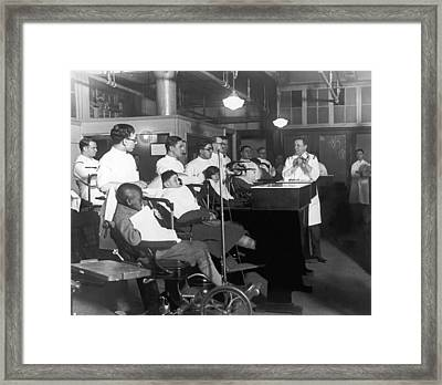 Demonstrating Orthodontia Framed Print by Underwood Archives