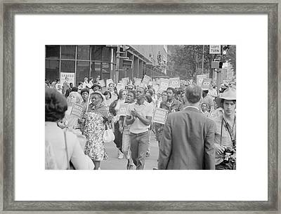 Demonstrators In The Poor Peoples March Framed Print
