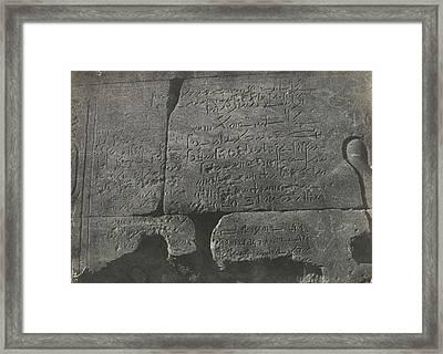 Demotic Inscription, Isis Temple Framed Print