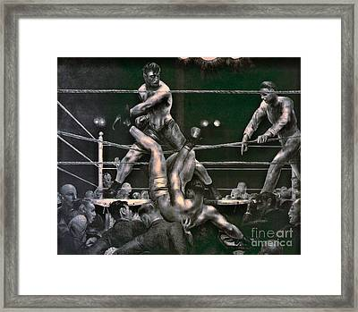 Dempsey And Firpo 1923 Framed Print by Padre Art