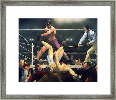 Dempsey And Firpo Framed Print by Mountain Dreams
