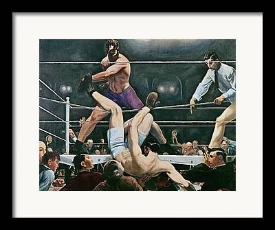 Punching Paintings Framed Prints