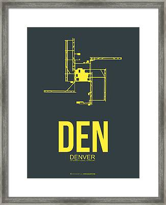 Den Denver Airport Poster 1 Framed Print