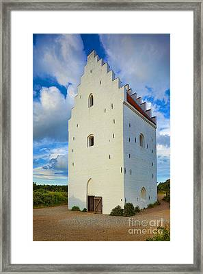 Den Tilsandede Kirke Steeple Framed Print by Inge Johnsson