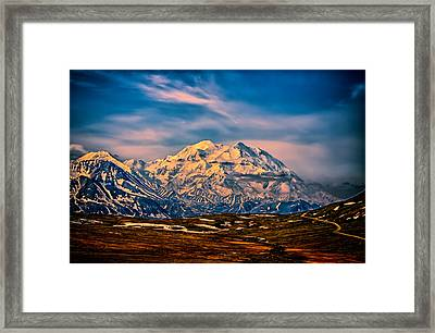 Denali At Sunset Framed Print