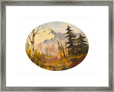 Denali Autumn Framed Print by Teresa Ascone