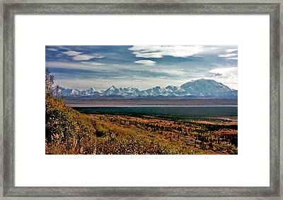 Framed Print featuring the photograph Denali Colors by Jeremy Rhoades