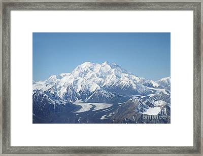 Denali From The Air Framed Print