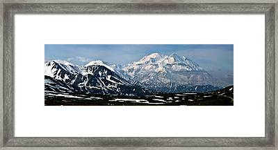 Framed Print featuring the photograph Denali National Park Panorama by John Haldane