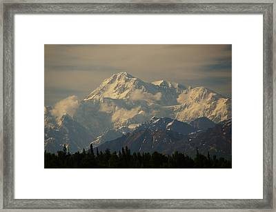 Denali  Or Mt Mckinley Framed Print