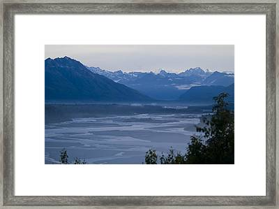 Denali Side Mountain Ranges Framed Print by Tara Lynn