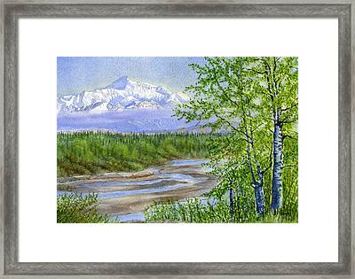 Denali Viewpoint Framed Print by Sharon Freeman