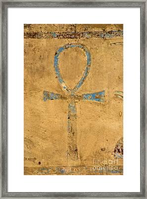 Dendera Ankh Framed Print by Brian Raggatt