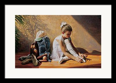 Tying Shoe Framed Prints