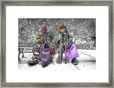 Denizens Framed Print by John Haldane