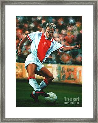 Dennis Bergkamp 2 Framed Print by Paul Meijering