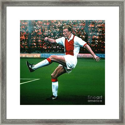 Dennis Bergkamp Ajax Framed Print by Paul Meijering