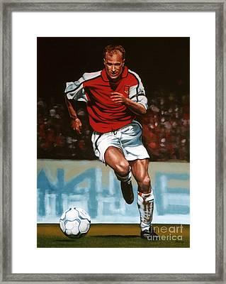 Dennis Bergkamp Framed Print by Paul Meijering
