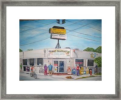 Dennis Pharmacy - No More Refills Framed Print