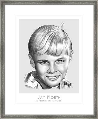 Dennis The Menace Framed Print by Greg Joens