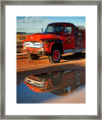 Dennis Volunteer Fire Engine Seligman Az Framed Print by Troy Montemayor