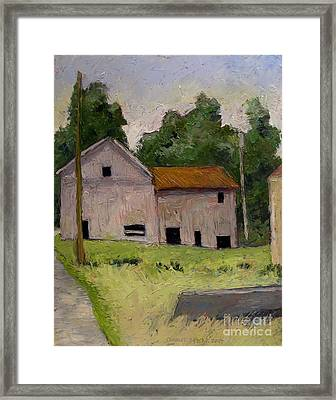 Denniston Mill Remnant Race Framed Print by Charlie Spear