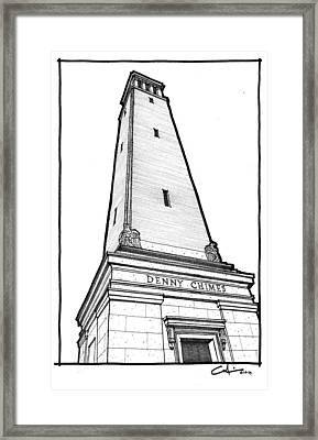 Denny Chimes Framed Print by Calvin Durham