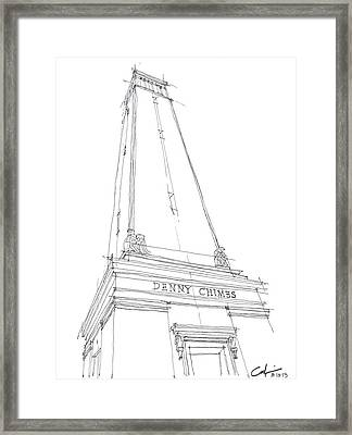 Denny Chimes Sketch Framed Print by Calvin Durham